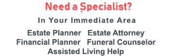 Need a Specialist?
