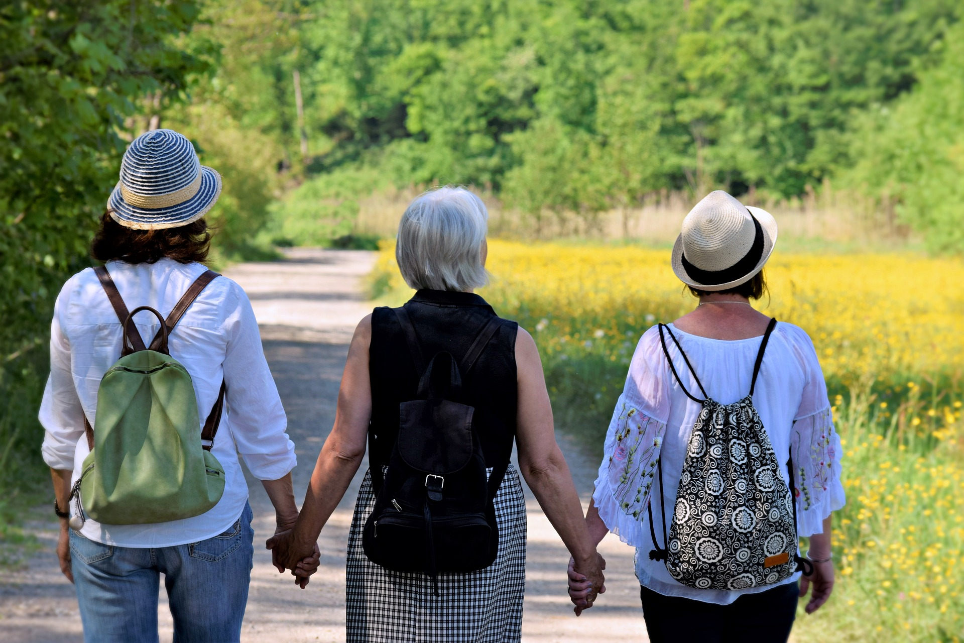 Older woman with her heirs